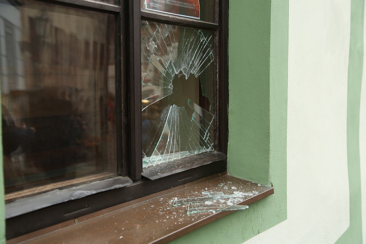 A2B Glass are able to board up broken windows while they are being repaired in Enfield Town.